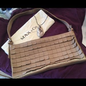 Max & Co.  genuine leather bag.  Made in Italy